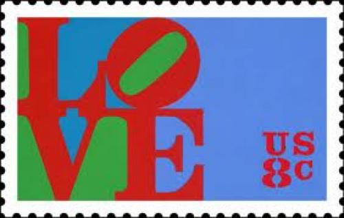 Stamps; January 26, 1973 - LOVE Stamp (USA).