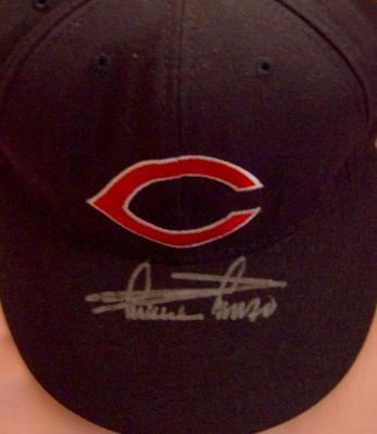 Minnie Minoso autographed Cleveland Indians authentic throwback cap