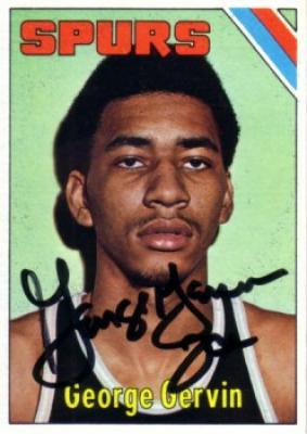George Gervin autographed San Antonio Spurs 1975-76 Topps card