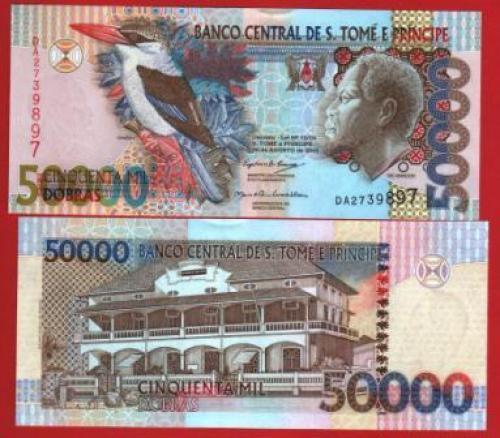 Sao tome et prince 50.000d 2004 UNC