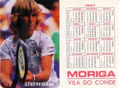 Steffi Graf 1987 Moriga Vila Do Conde card (RARE FROM PORTUGAL)