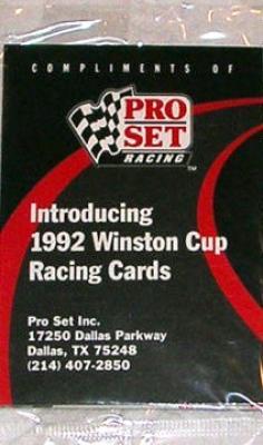 1992 Pro Set Racing set of 3 promo or prototype cards (Dale Earnhardt)