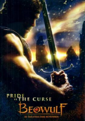 Beowulf movie 2007 4x6 inch promo card