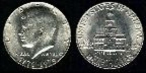 50 cents; Year: 1976; Bicentennial