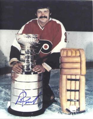 Bernie Parent autographed Philadelphia Flyers 8x10 Stanley Cup photo