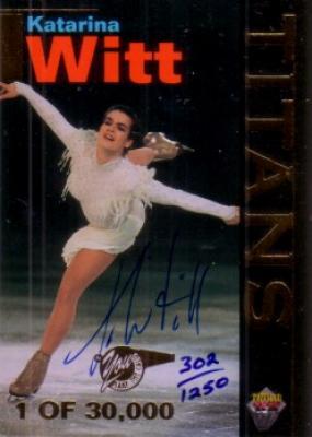 Katarina Witt certified autograph 1995 Signature Rookies figure skating card