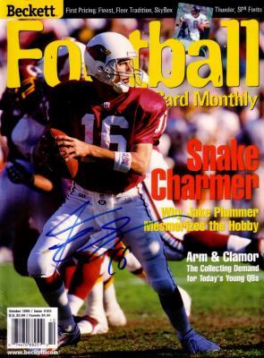 Jake Plummer autographed Arizona Cardinals 1998 Beckett Football magazine