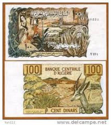 Banknotes;100 Dinars; Algeria, Africa