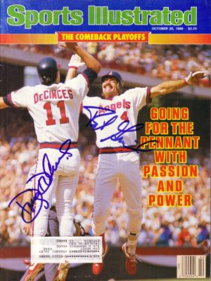 Doug DeCinces &amp; Bob Grich autographed Angels 1986 Sports Illustrated
