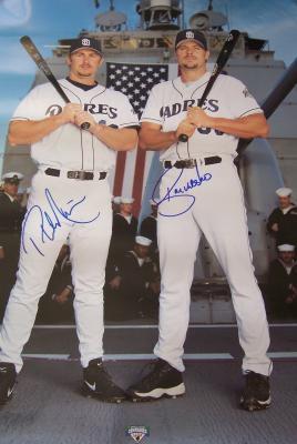 Ryan Klesko & Phil Nevin autographed San Diego Padres 2002 18x24 poster