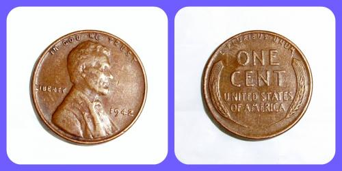1942,Lincoln Wheat Head Cent