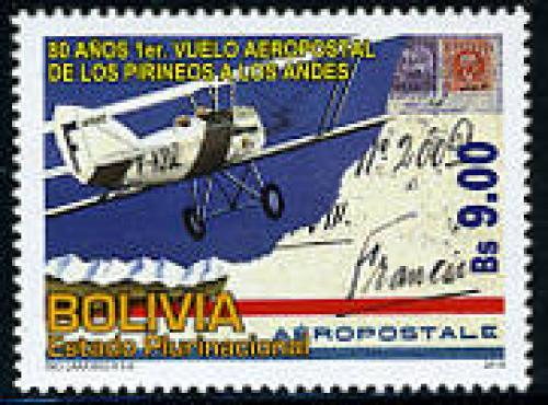 80th ann. First Airmail flight 1v