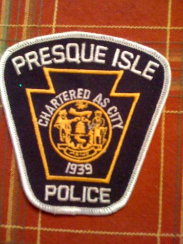 Old Presque Isle Maine Police patch