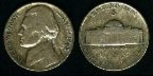 5 cents; Year: 1942-1945; Jefferson. 35% silver