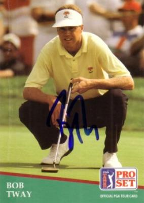 Bob Tway autographed 1991 Pro Set golf card