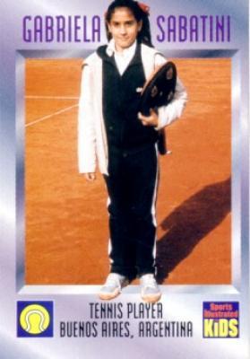 Gabriela Sabatini 1996 Sports Illustrated for Kids card