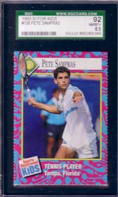 Pete Sampras 1993 Sports Illustrated for Kids card graded SGC 92 (NrMt-Mt+)