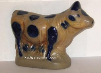 Beaumont Brothers Salt Glaze Pottery Country Cow Animal Figurine
