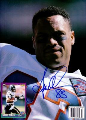 Anthony Miller autographed Denver Broncos Beckett Football back cover photo
