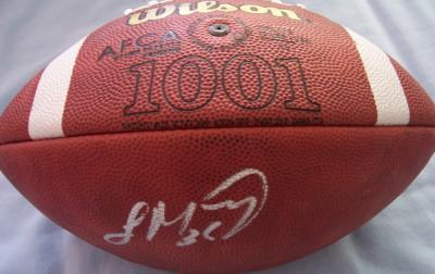 Laurence Maroney autographed Wilson NCAA leather football