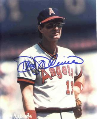 Doug DeCinces autographed 8x10 California Angels photo