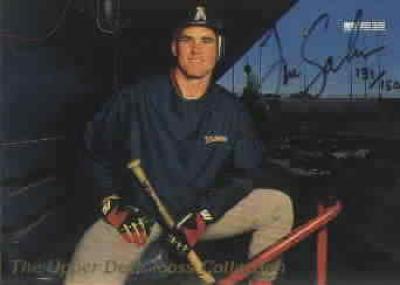 Tim Salmon autographed Angels 1993 Upper Deck card UDA ltd edit 1500