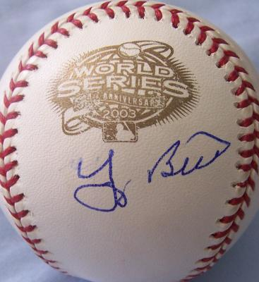Yogi Berra autographed 2003 World Series baseball