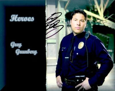 Greg Grunberg autographed 8x10 Heroes photo