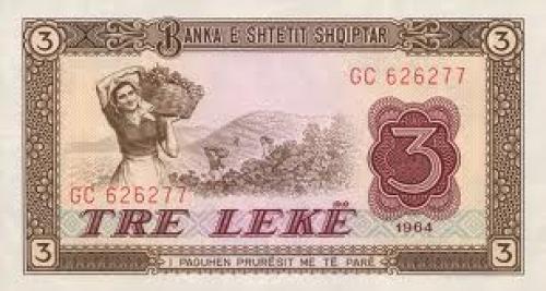 Banknotes; Tre Leke; Banknotes; Albania