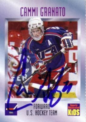 Cammi Granato autographed USA Hockey 1996 Sports Illustrated for Kids card