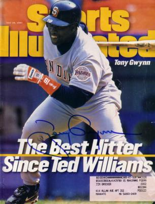 Tony Gwynn autographed San Diego Padres 1997 Sports Illustrated