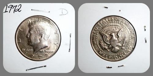 1972-D- Kennedy half Dollar