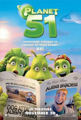 Planet 51 movie mini promo poster