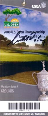 Geoff Ogilvy autographed 2008 U.S. Open ticket