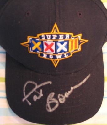 Pat Bowlen (Denver Broncos) autographed Super Bowl 32 cap