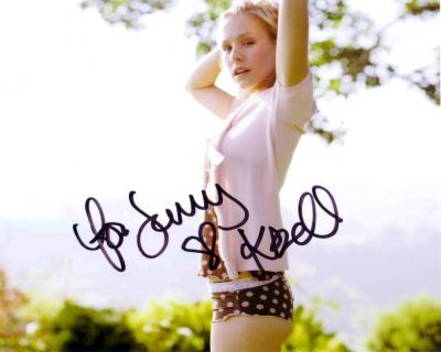 Kristen Bell autographed 8x10 photo (for Jenny)