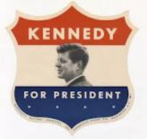 Memorabilia; JFK Campaign Sticker