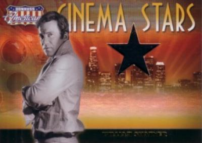 William Shatner worn shirt swatch Donruss Americana card #209/500