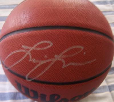 Lisa Leslie autographed Wilson NCAA basketball
