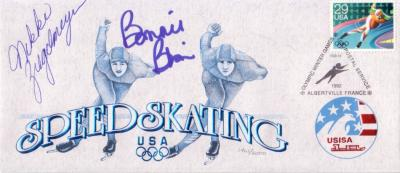 Bonnie Blair &amp; Nikki Ziegelmeyer autographed 1992 Olympic Speed Skating cachet