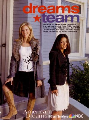 Vanessa Lengies & Brittany Snow autographed American Dreams full page magazine ad