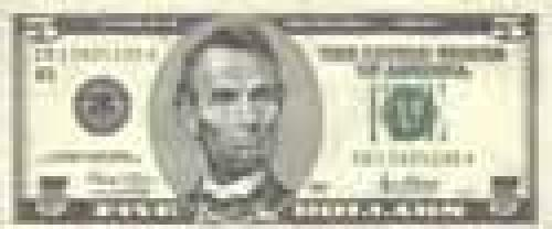 5 Dollars; Issue of 1996-1999; (enlarged portraits)