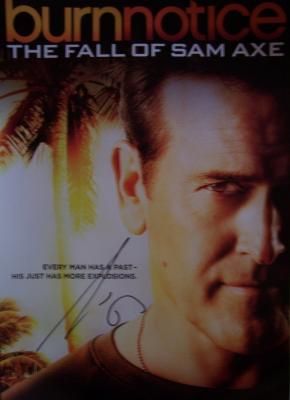 Bruce Campbell autographed Burn Notice Fall of Sam Axe 2011 Comic-Con poster