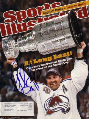 Ray Bourque autographed Colorado Avalanche 2001 Stanley Cup Sports Illustrated