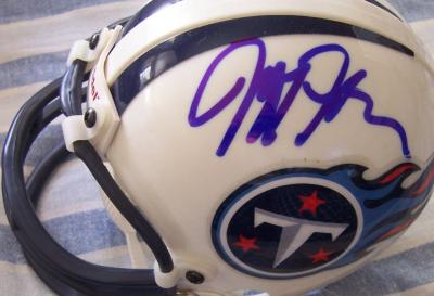 Jeff Fisher & Frank Wycheck autographed Tennessee Titans mini helmet