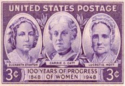 "Stamps; US stamp commemorating ""100 years of progress of women, 1848-1948"