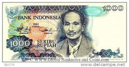Banknotes;  Indonesia 1000 Rupiah Banknote P-119 1980 Issue