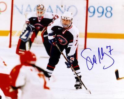 Sue Merz autographed 1998 USA Hockey 8x10 photo