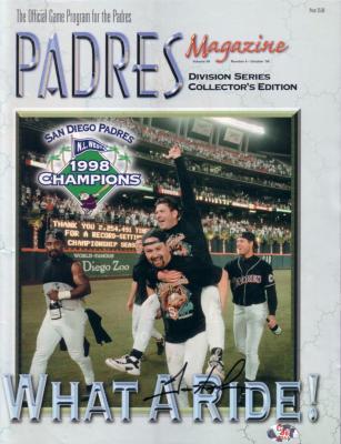 Trevor Hoffman autographed San Diego Padres 1998 Division Series program