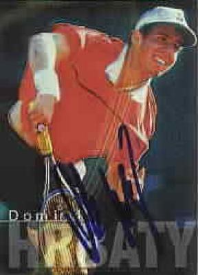 Dominik Hrbaty autographed 2000 ATP Tour tennis card